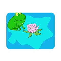 Frog Flower Lilypad Lily Pad Water Double Sided Flano Blanket (mini)