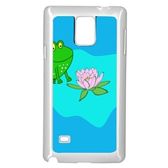 Frog Flower Lilypad Lily Pad Water Samsung Galaxy Note 4 Case (White)