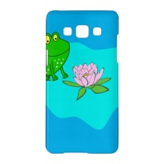 Frog Flower Lilypad Lily Pad Water Samsung Galaxy A5 Hardshell Case
