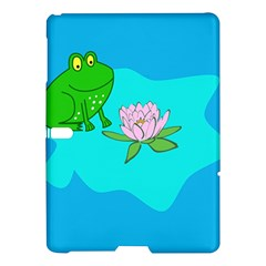 Frog Flower Lilypad Lily Pad Water Samsung Galaxy Tab S (10 5 ) Hardshell Case