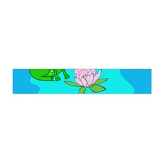 Frog Flower Lilypad Lily Pad Water Flano Scarf (mini)
