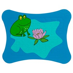 Frog Flower Lilypad Lily Pad Water Jigsaw Puzzle Photo Stand (Bow)