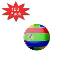 Balloon Volleyball Ball Sport 1  Mini Magnets (100 pack)
