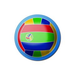 Balloon Volleyball Ball Sport Rubber Round Coaster (4 pack)