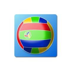 Balloon Volleyball Ball Sport Square Magnet