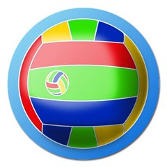 Balloon Volleyball Ball Sport Magnet 5  (round)