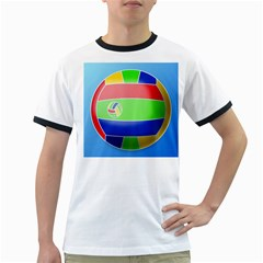 Balloon Volleyball Ball Sport Ringer T-Shirts