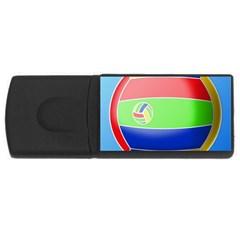 Balloon Volleyball Ball Sport Usb Flash Drive Rectangular (4 Gb)