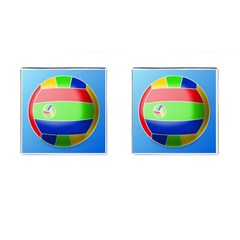 Balloon Volleyball Ball Sport Cufflinks (square)