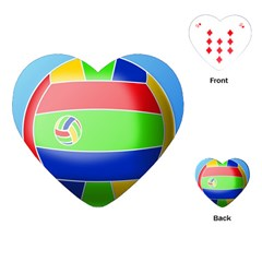 Balloon Volleyball Ball Sport Playing Cards (Heart)