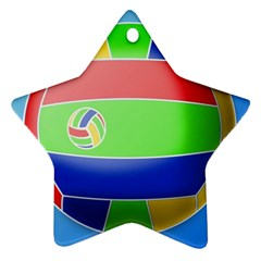 Balloon Volleyball Ball Sport Star Ornament (two Sides)