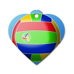 Balloon Volleyball Ball Sport Dog Tag Heart (One Side)