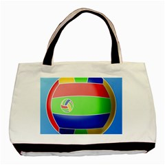 Balloon Volleyball Ball Sport Basic Tote Bag (two Sides)