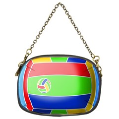 Balloon Volleyball Ball Sport Chain Purses (two Sides)