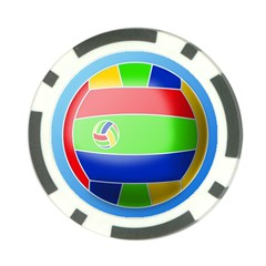 Balloon Volleyball Ball Sport Poker Chip Card Guard (10 Pack)