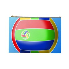 Balloon Volleyball Ball Sport Cosmetic Bag (Large)