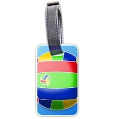 Balloon Volleyball Ball Sport Luggage Tags (Two Sides)
