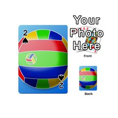 Balloon Volleyball Ball Sport Playing Cards 54 (Mini)
