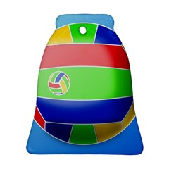 Balloon Volleyball Ball Sport Bell Ornament (two Sides)