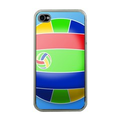 Balloon Volleyball Ball Sport Apple iPhone 4 Case (Clear)