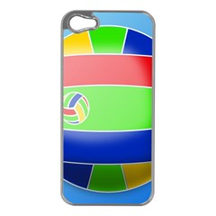 Balloon Volleyball Ball Sport Apple Iphone 5 Case (silver)