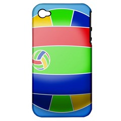 Balloon Volleyball Ball Sport Apple Iphone 4/4s Hardshell Case (pc+silicone)