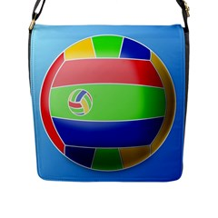 Balloon Volleyball Ball Sport Flap Messenger Bag (l)