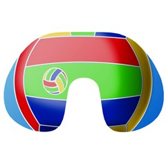 Balloon Volleyball Ball Sport Travel Neck Pillows