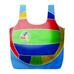Balloon Volleyball Ball Sport Full Print Recycle Bags (l)