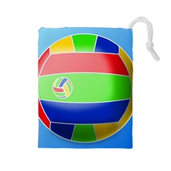 Balloon Volleyball Ball Sport Drawstring Pouches (large)