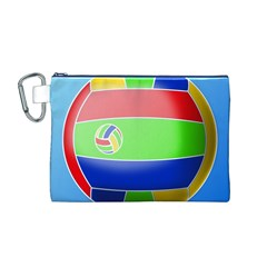Balloon Volleyball Ball Sport Canvas Cosmetic Bag (m)