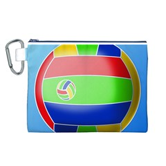 Balloon Volleyball Ball Sport Canvas Cosmetic Bag (l)