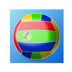 Balloon Volleyball Ball Sport Small Satin Scarf (square)