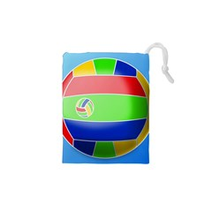 Balloon Volleyball Ball Sport Drawstring Pouches (XS)