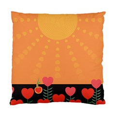 Love Heart Valentine Sun Flowers Standard Cushion Case (Two Sides)