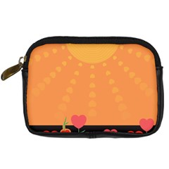 Love Heart Valentine Sun Flowers Digital Camera Cases