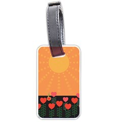 Love Heart Valentine Sun Flowers Luggage Tags (Two Sides)