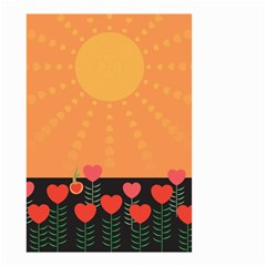 Love Heart Valentine Sun Flowers Small Garden Flag (two Sides)