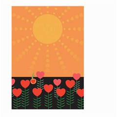 Love Heart Valentine Sun Flowers Large Garden Flag (two Sides)