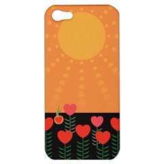 Love Heart Valentine Sun Flowers Apple iPhone 5 Hardshell Case