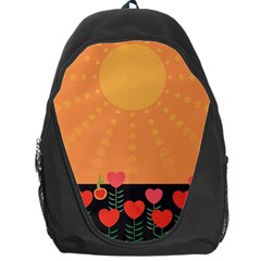 Love Heart Valentine Sun Flowers Backpack Bag