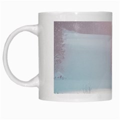 Winter Day Pink Mood Cottages White Mugs