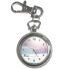 Winter Day Pink Mood Cottages Key Chain Watches