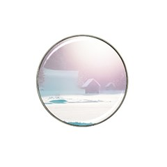 Winter Day Pink Mood Cottages Hat Clip Ball Marker (10 pack)