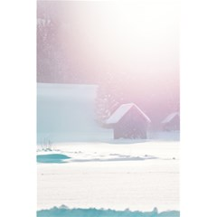 Winter Day Pink Mood Cottages 5 5  X 8 5  Notebooks