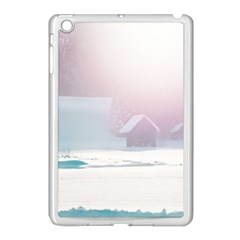 Winter Day Pink Mood Cottages Apple Ipad Mini Case (white)