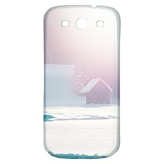 Winter Day Pink Mood Cottages Samsung Galaxy S3 S Iii Classic Hardshell Back Case