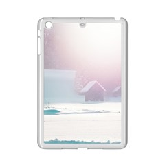 Winter Day Pink Mood Cottages Ipad Mini 2 Enamel Coated Cases