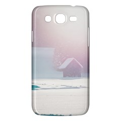 Winter Day Pink Mood Cottages Samsung Galaxy Mega 5 8 I9152 Hardshell Case
