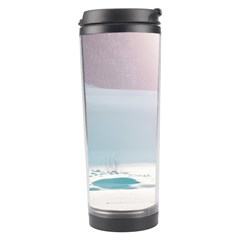 Winter Day Pink Mood Cottages Travel Tumbler